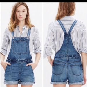 Madewell short overalls